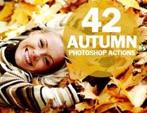 42款秋季主题暖色效果PS动作