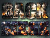 战争火焰主题的艺术字PS样式V1