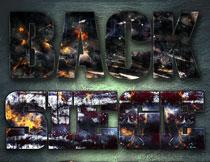 战争火焰主题的艺术字PS样式V2