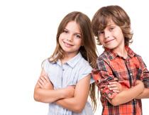 站在一起的儿童人物摄影高清图片