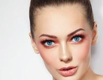 化妆盘发美女写真摄影高清图片
