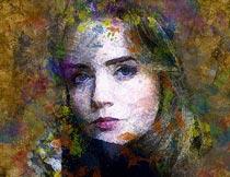 抽象的人像转水彩涂抹效果PS动作