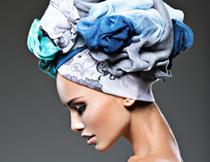 浴帽妆容美女写真摄影高清图片