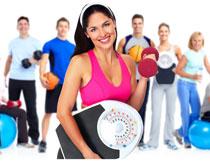 一群健身运动男女人物高清图片