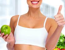 健康运动美女局部摄影高清图片