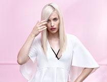 浓妆秀发美女人物摄影高清图片