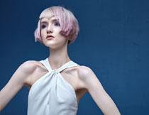 染发美妆人物模特摄影高清图片