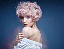 浓妆染发美女模特摄影高清图片