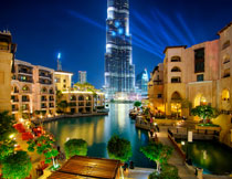 城市夜晚景观风光摄影高清图片