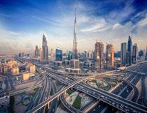 便利城市交通鸟瞰摄影高清图片