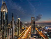 城市繁华夜景风光摄影高清图片