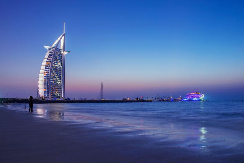 海边迪拜帆船酒店摄影高清图片