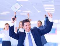 在庆祝的商务人物摄影高清图片