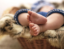 宝宝一对脚丫特写摄影高清图片