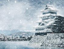 冬季城市冷色暴风雪特效PS动作