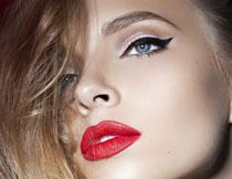 红唇浓妆美女写真摄影高清图片