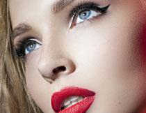 面部浓妆美女模特摄影高清图片