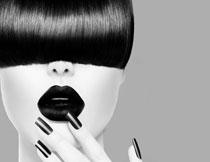 黑白效果发型模特摄影高清图片