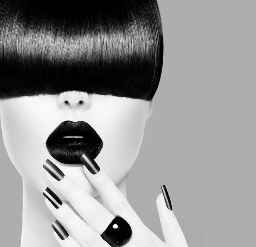 黑白效果发型模特摄影高清图片 - 思缘设计素材共享