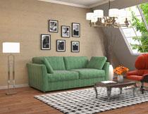 阁楼客厅房间家具陈设高清图片