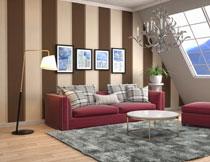 客厅沙发装饰画等陈设高清图片