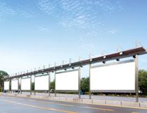 公交车站台广告牌设计高清图片