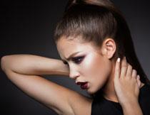 浓妆打扮美女模特摄影高清图片