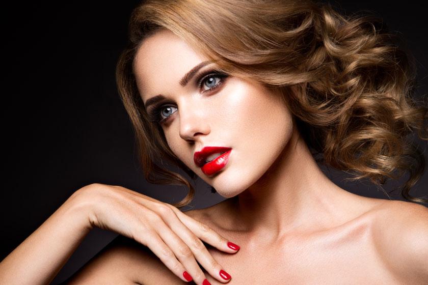 露肩打扮红唇美女摄影高清图片 - 思缘设计素材共享