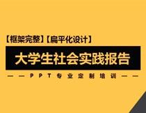 橙色风格大学生社会实践报告PPT模板