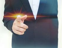 耀眼光效的手商务创意高清图片