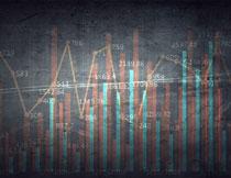 折线元素统计图表创意高清图片