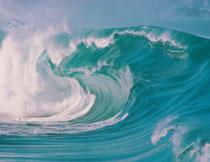 海面上席卷的巨浪摄影高清图片