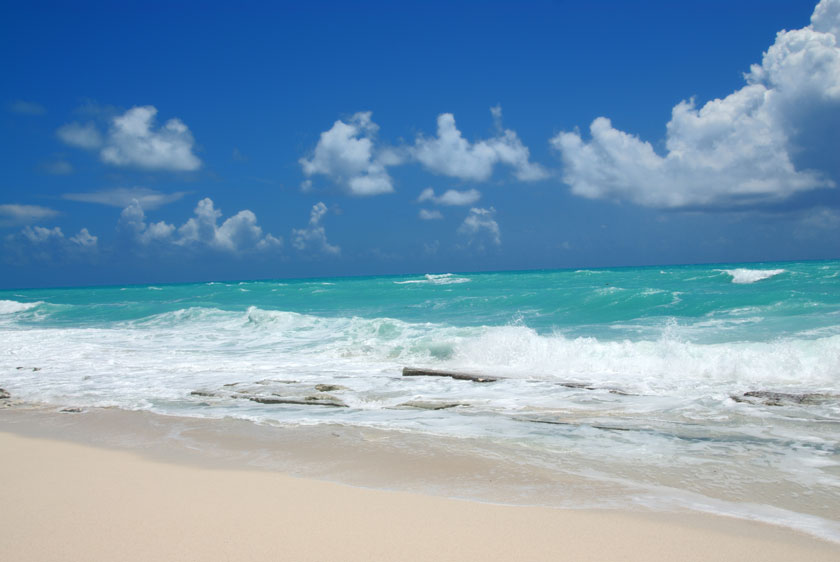 关键字栏: 天空蓝天云彩云层多云白云云朵大海海水海浪浪花波浪海滩