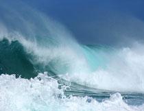 海上壮观波浪风光摄影高清图片