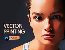 创意的矢量绘画艺术效果PS动作