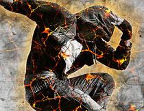 超酷的岩浆裂痕艺术效果PS动作