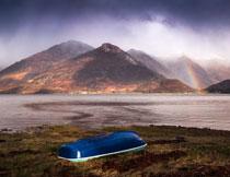 彩虹湖光山色风景摄影高清图片
