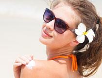 鲜花发饰美女人物摄影高清图片