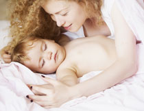 在熟睡中的小宝贝摄影高清图片