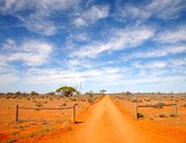 蓝天白云沙漠风光摄影高清图片
