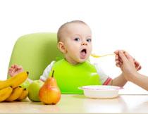 在吃饭的宝宝人物摄影高清图片