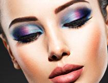 炫彩眼妆美女人物摄影高清图片