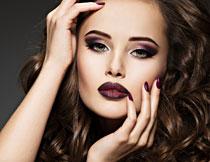 化浓妆的美女人物摄影高清图片