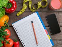 健身计划表与膳食营养高清图片