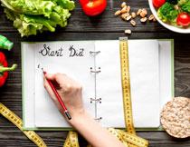瘦身膳食计划主题摄影高清图片