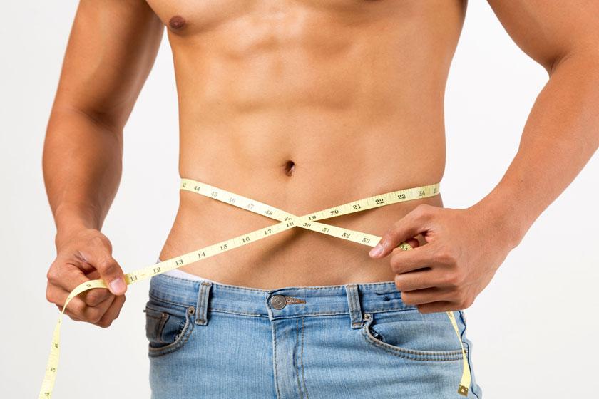 量腰围的健壮男人摄影高清图片