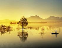 诗画般的湖光山色摄影高清图片