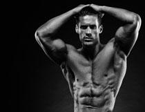 体格健壮健身男子摄影高清图片