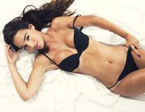 黑色内衣美女模特人物高清图片