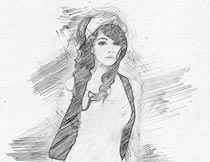 黑白手绘铅笔画特效PS动作